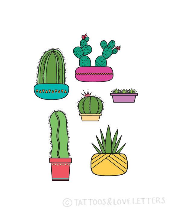 Succulents print shop america. Cactus clipart pop art
