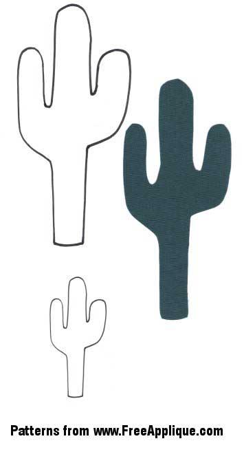 Southwest patterns for applique. Cactus clipart shape