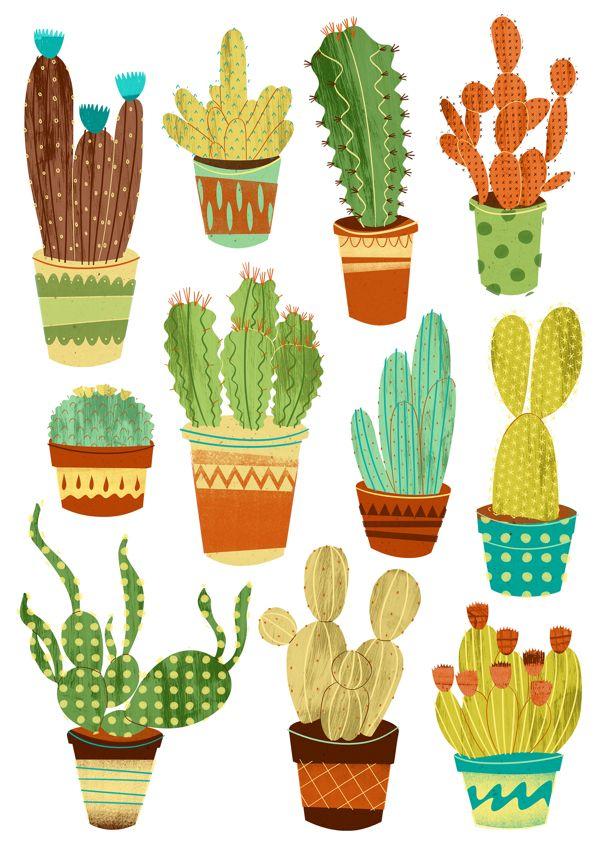 Cactus clipart shape.  best illustration images