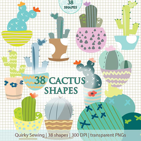 Cactus clipart shape.  graphic clip art