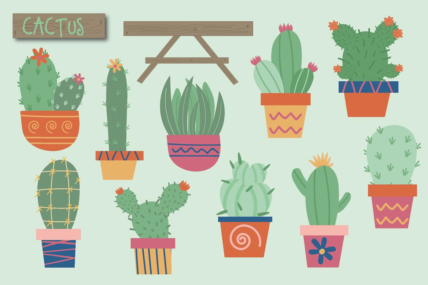 Cute by poppymoon design. Cactus clipart shape
