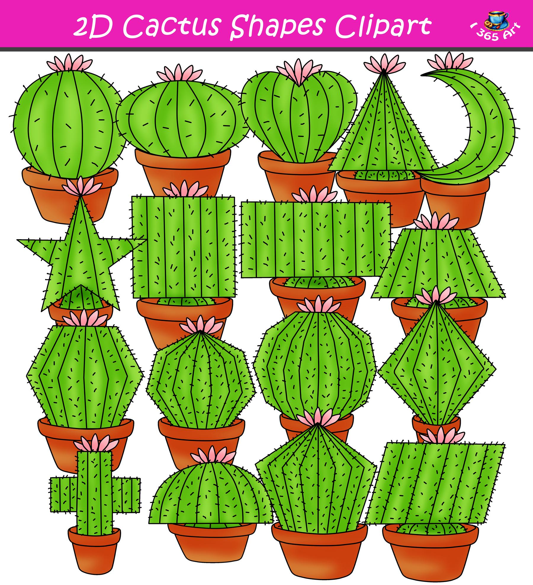 Cactus clipart shape.  d shapes graphics