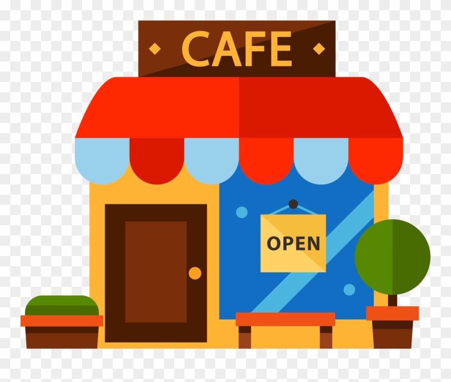 Clipart restaurant cartoon. Cafe color transprent png