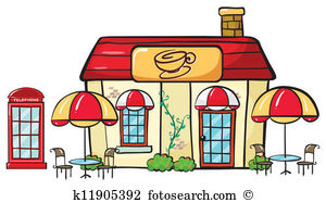 Station . Cafe clipart