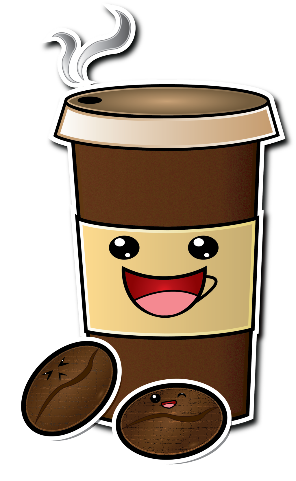 Winter clipart coffee. Cute cartoon cup drawing