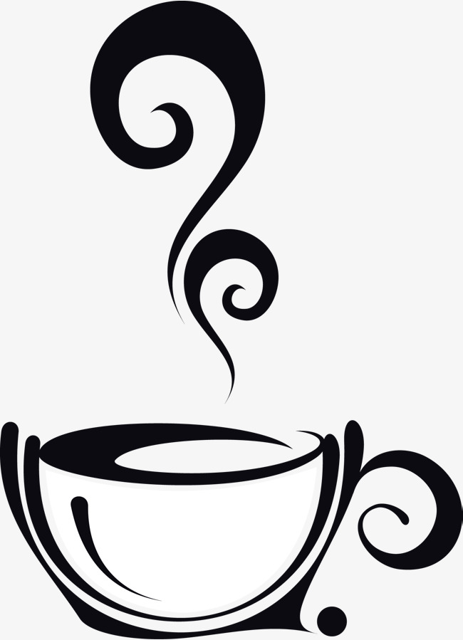 Cafe clipart aroma. Steaming coffee hand glass