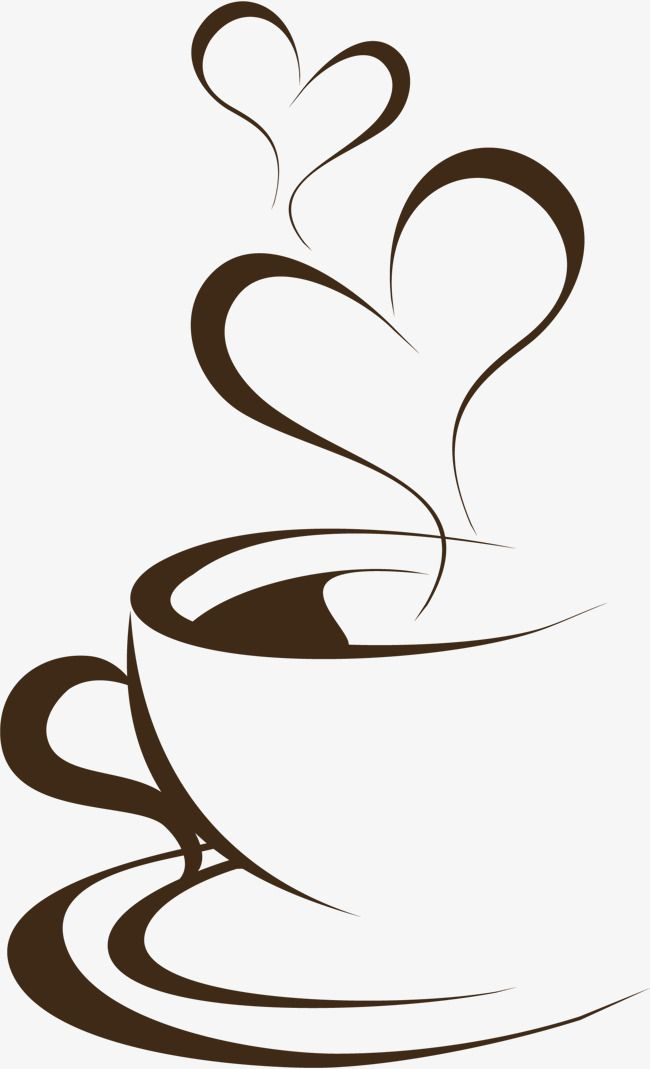 Cafe clipart aroma. Hand painted brown coffee