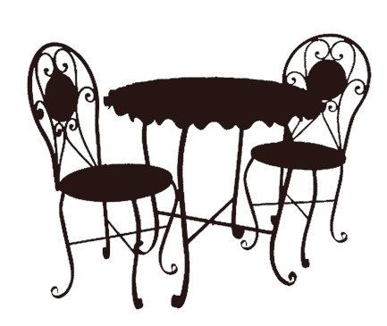 Paris clipart cafe table. Catchy french and chairs