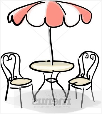 Patio umbrella best of. Cafe clipart black and white