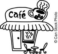 Cafe clipart black and white.  collection of coffee