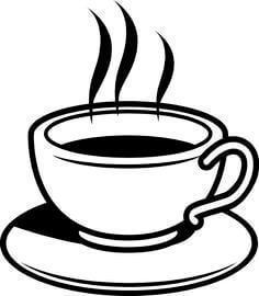 Image result for free. Cafe clipart black and white