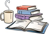 Book clipart coffee. Customize and books clip