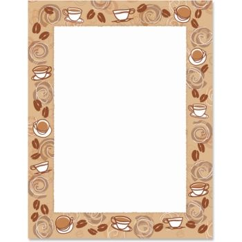 Bean border papers decorative. Coffee clipart frame