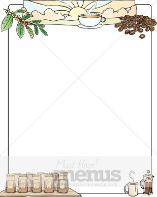 Breakfast Border: Clip Art, Page Border, and Vector Graphics