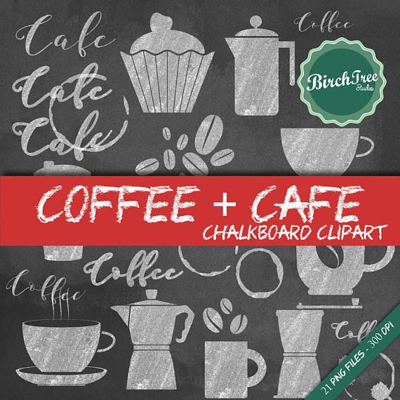 Cafe clipart cafe background. Chalkboard coffee clip art