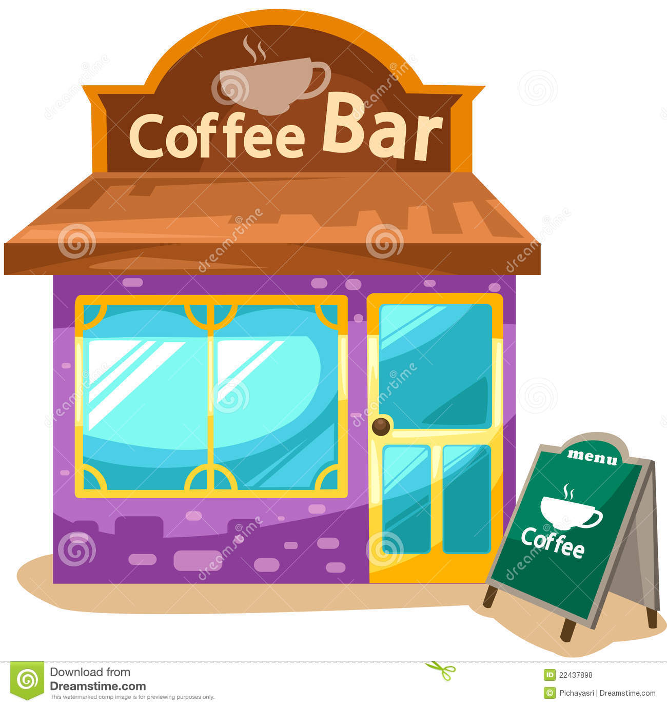 collection of coffee. Cafe clipart cafe building