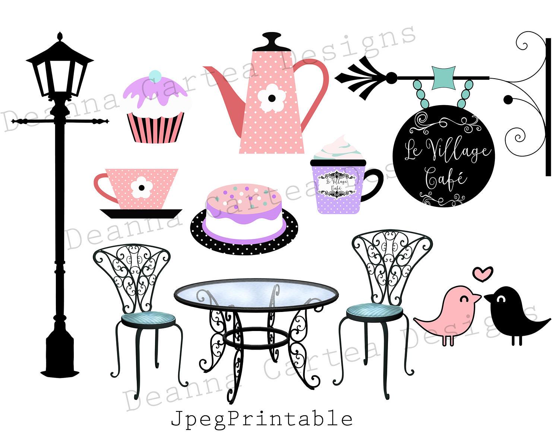 Clip art bakery card. Cafe clipart cafe paris