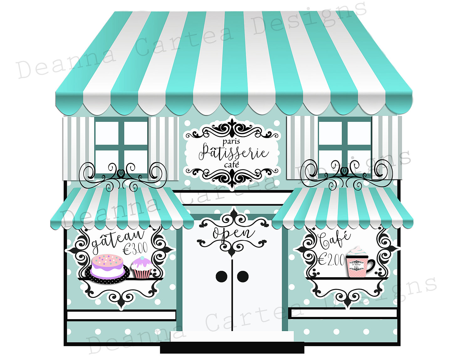 Cafe clipart cafe paris. Clip art bakery card