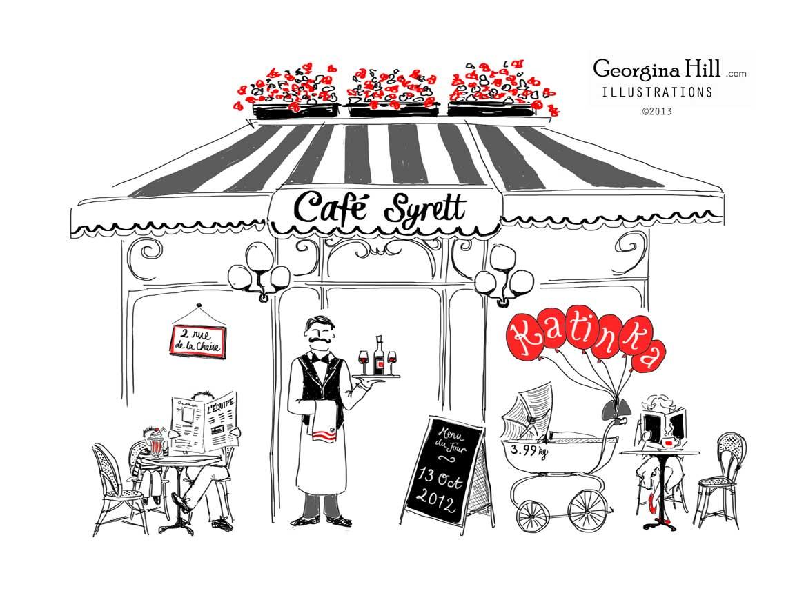 Caf katinka. Cafe clipart cafe paris