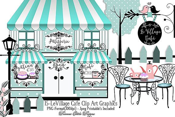Cafe clipart cafe paris. Clip art bakery card