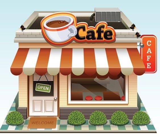 Cafe clipart cafeteria building.  best kitchen images