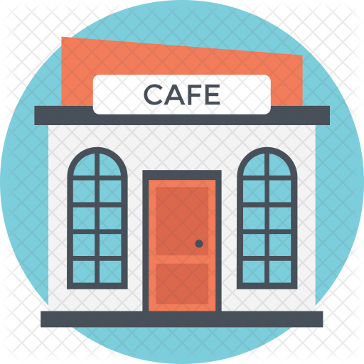 Icon real estate icons. Cafe clipart cafeteria building