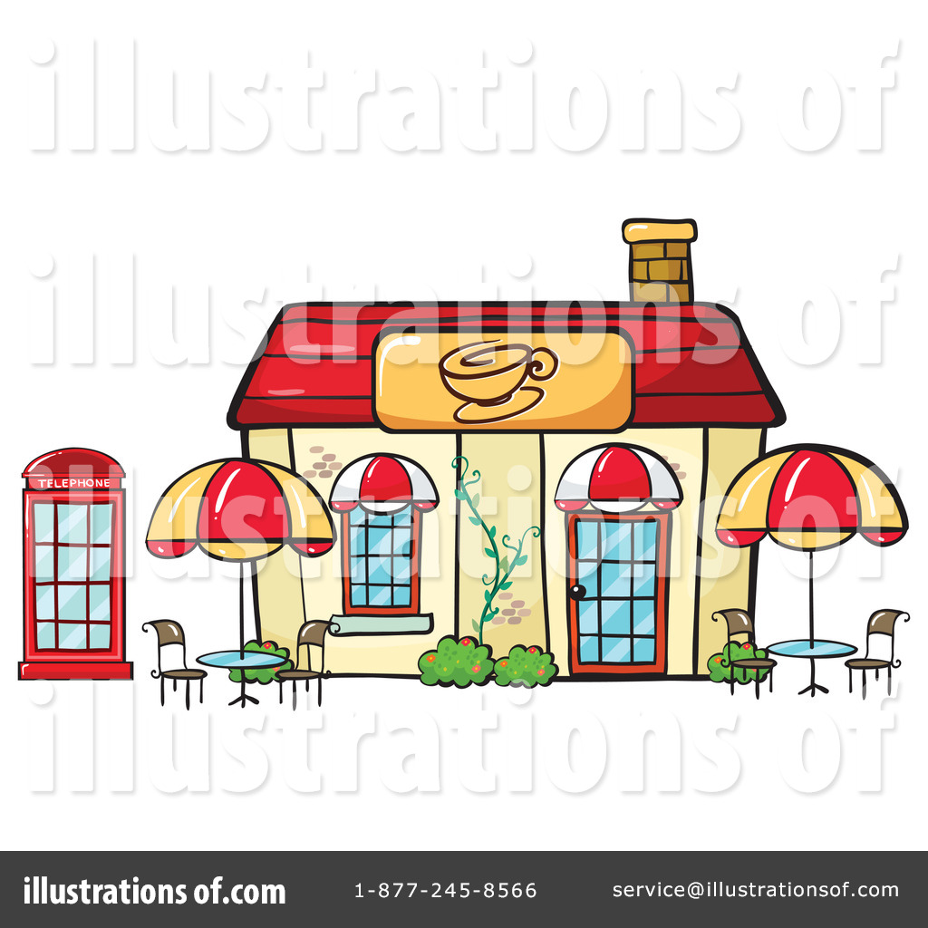 Cafe clipart cafeteria building. Illustration by graphics rf