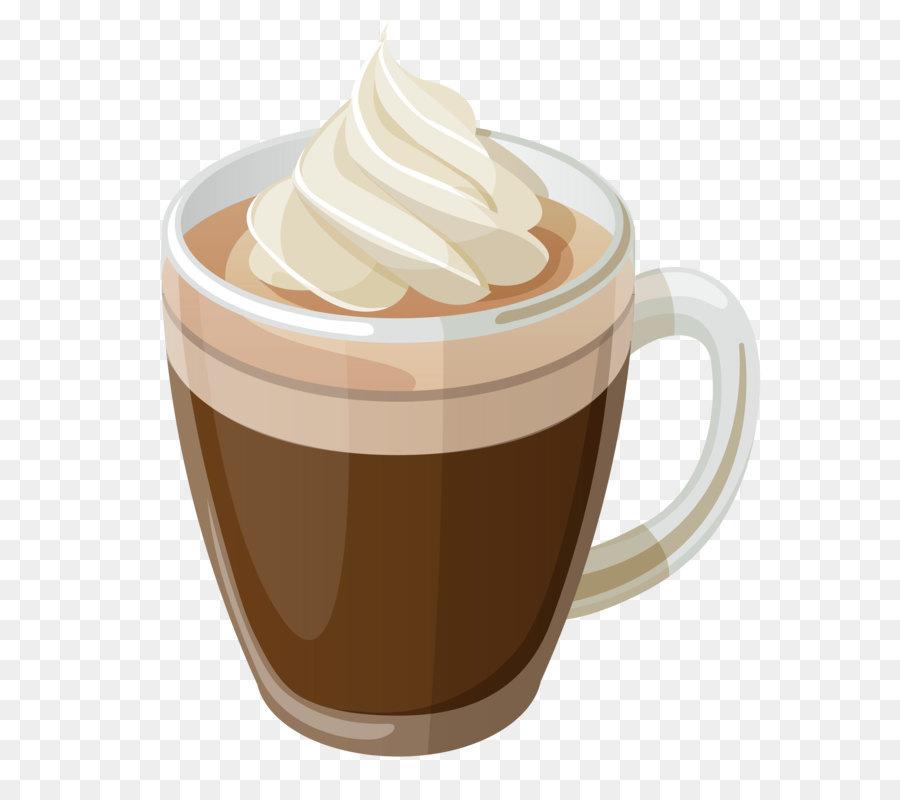 Latte clipart. Coffee tea cafe clip