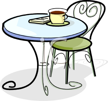 Caf station . Clipart restaurant dining table
