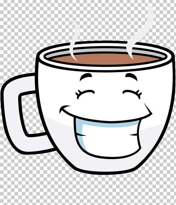 Mug clipart coffee face. Cup tea cafe cartoon