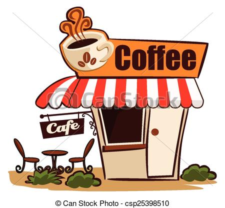 Buildings clipart coffee shop. Cafe station
