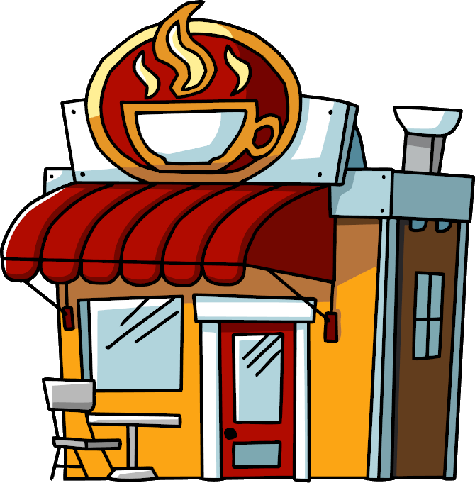 Coffee shop wiki fandom. Restaurants clipart scribblenauts