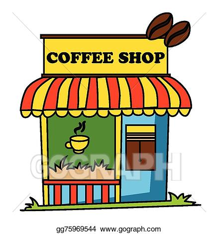 Vector illustration eps gg. Cafe clipart coffee shop