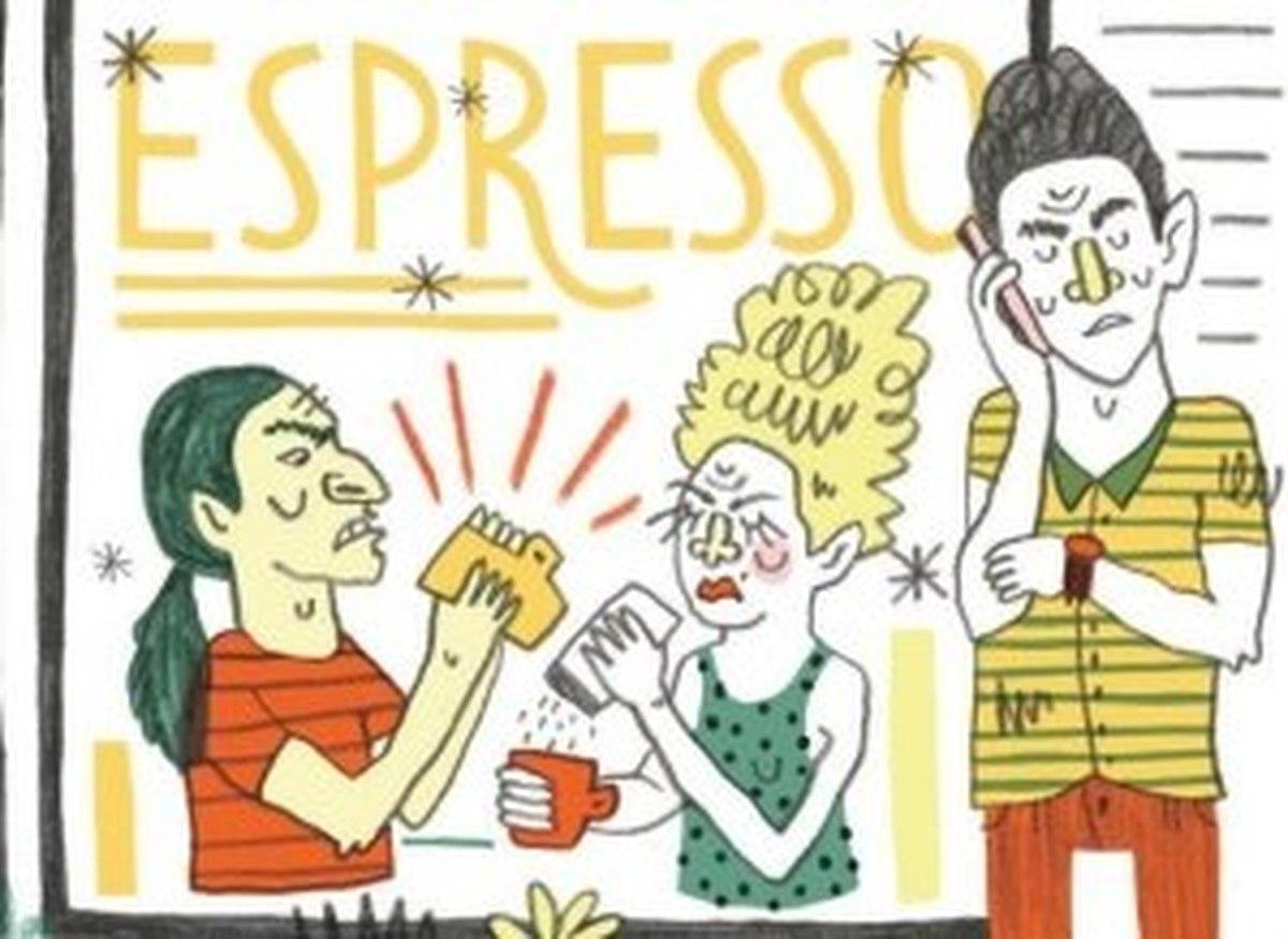 Coffee etiquette willamette week. Shop clipart crowded