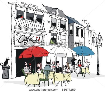 Fran ais caf s. French clipart french cafe