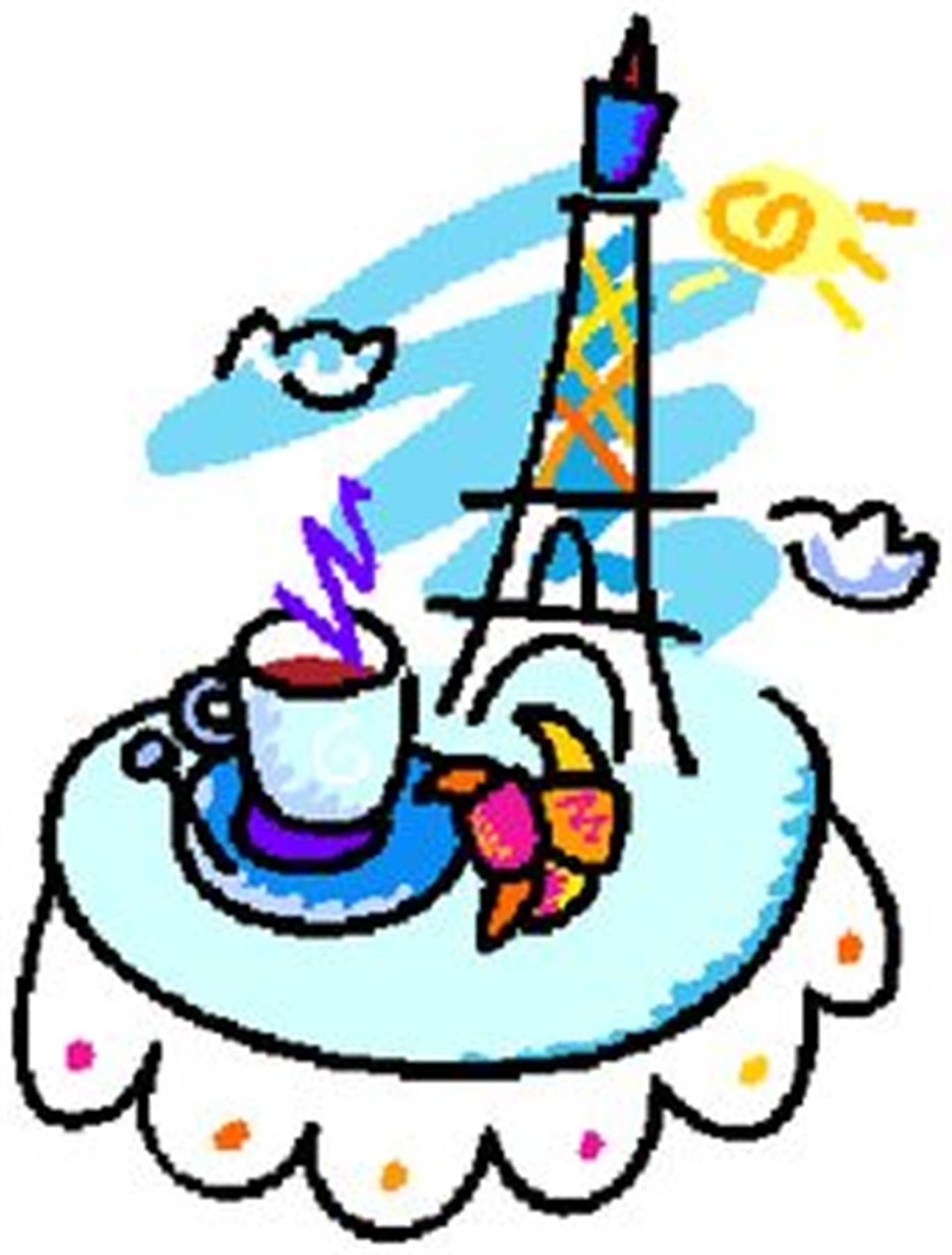 Cafe clipart french cafe. Vive le francais may