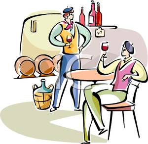 A colorful cartoon of. Cafe clipart french cafe