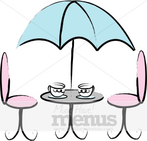 Table . Cafe clipart french cafe