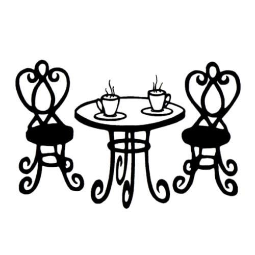 Paris table unmounted rubber. Cafe clipart french cafe
