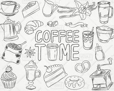 Coffee vector pack shop. Cafe clipart honeymoon