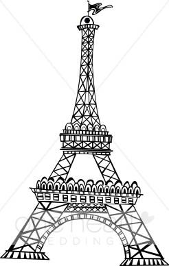 Cafe clipart honeymoon. Eiffel tower