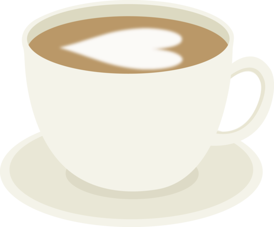 Latte clipart. Cup of coffee with