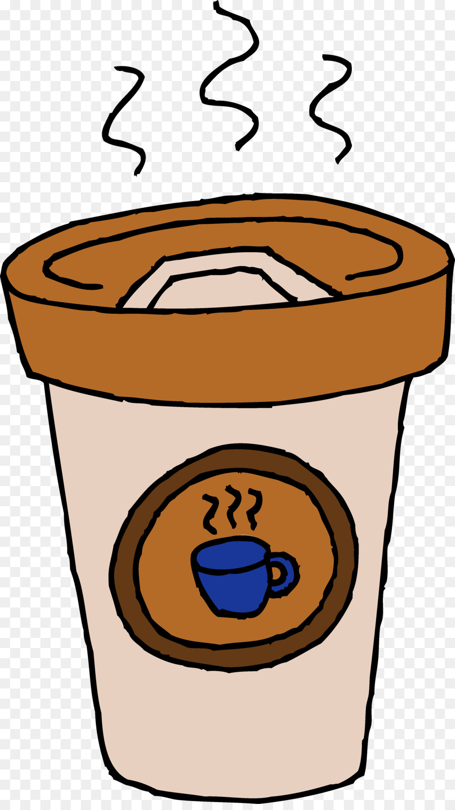 Cup of coffee tea. Cafe clipart latte