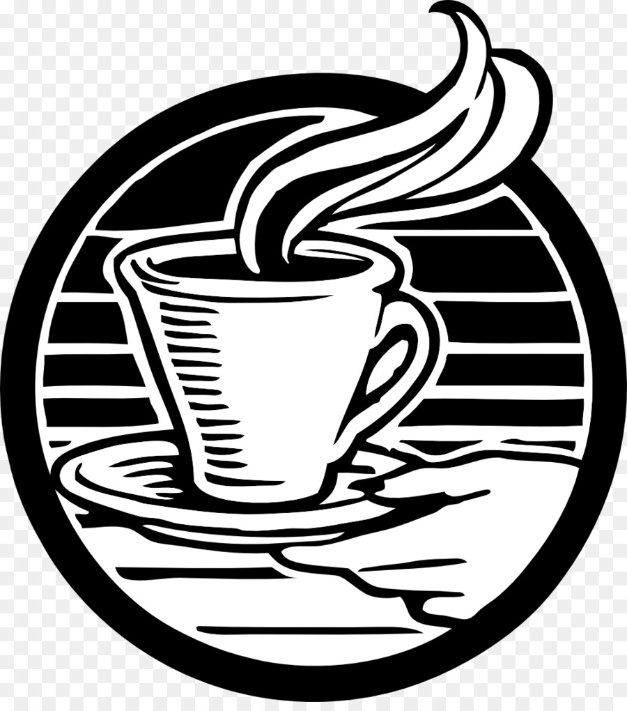 Cafe clipart line art. Cup of coffee tea