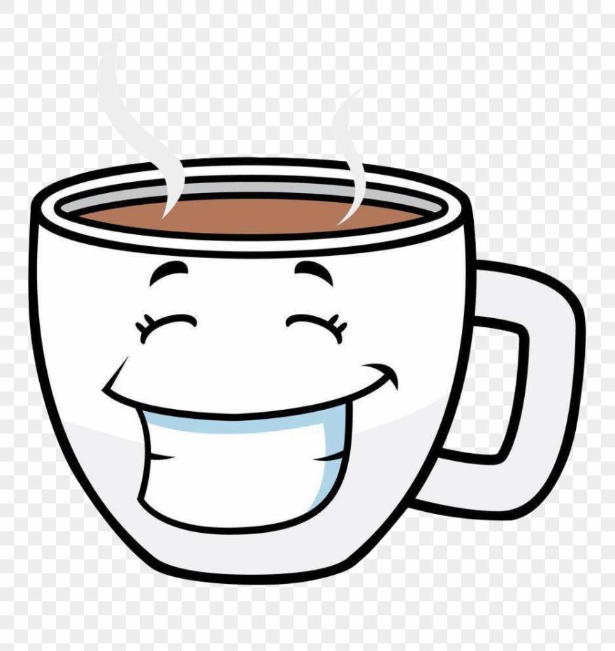 Unique coffee mug clip. Cafe clipart line art