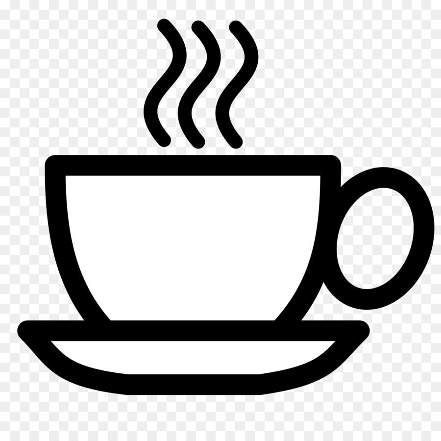 Cafe clipart line art. Cup of coffee transparent
