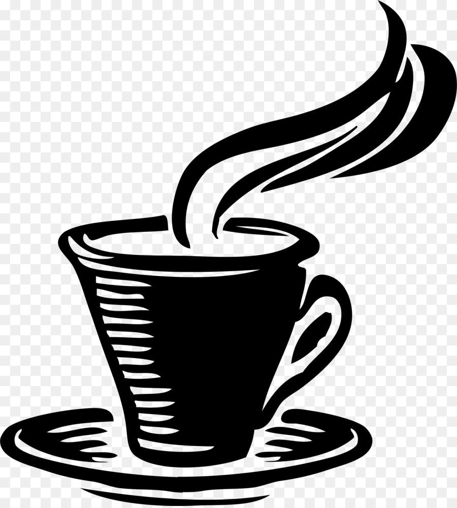 Coffee cup tea clip. Cafe clipart line art