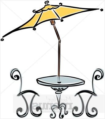 Table umbrella purchase. Cafe clipart patio