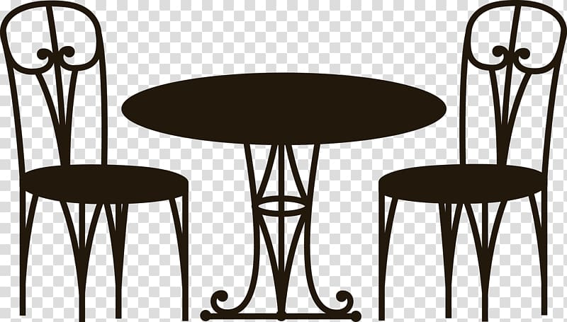 Coffee table chair transparent. Cafe clipart patio