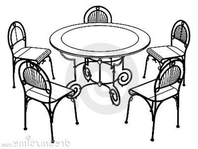 Table and chairs restaurant. Cafe clipart patio